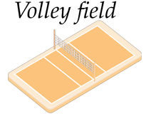 Volley field Stock Photography