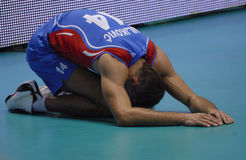 Volley game. Milkovic, from Serbia. Stock Image