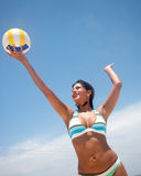 Volley girl Stock Image