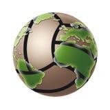 Volley Kugel-Welt Stockbild