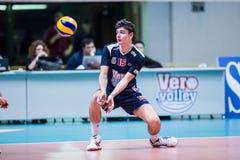 Volley. MILAN, ITALY – NOVEMBER, 3:    L. Puliti ( 15) in Vero Volley  Monza – Sieco Service Ortona  ( Italian Volley League A2) on November 3 , 2013 in Stock Image