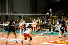 Volley - Volleyball All Star Game 2008 Royalty Free Stock Images