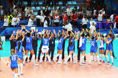 Volley winner Royalty Free Stock Images