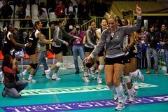 volleybal所有比赛符合的星形 库存照片