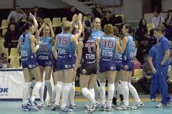Volleybal team Dynamo(MSC) Stock Images