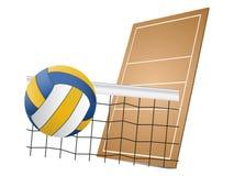 Volleybalauslegungelemente lizenzfreie abbildung