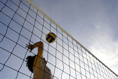 Volleyball 13 van het strand Stock Afbeeldingen