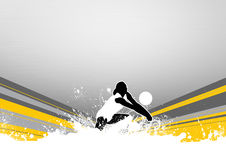Volleyball. Abstract grunge color volleyball background with space Royalty Free Stock Photos