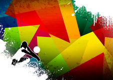 Volleyball. Abstract grunge color volleyball background with space Stock Images