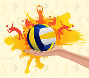 Volleyball abstract. Abstract grungy volleyball sport design background royalty free illustration