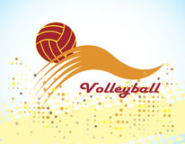 Volleyball. Abstract volleyball  logo.Vector illustration Stock Image