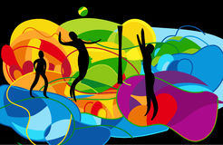 Volleyball abstracte achtergrond Royalty-vrije Stock Afbeeldingen