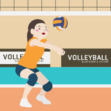 Volleyball athletic sport vector cartoon Royalty Free Stock Image