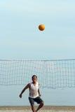 Volleyball auf dem Strand Lizenzfreies Stockfoto