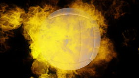 Volleyball auf Feuer stock footage