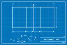 Volleyball auf Plan Lizenzfreies Stockbild