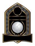 Volleyball-Auslegung-Schablonen-Lorbeer Stockfotos