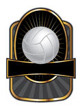 Volleyball-Auslegung-Schablonen-Oval vektor abbildung