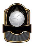 Volleyball-Auslegung-Schablonen-Oval Stockfotografie