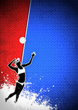 Volleyball background Royalty Free Stock Photography