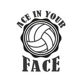 Volleyball badge, vector illustration Royalty Free Stock Photography