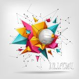 Volleyball ball background text Stock Photo