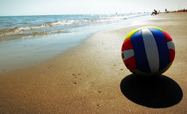 Volleyball ball on the beach Royalty Free Stock Photography