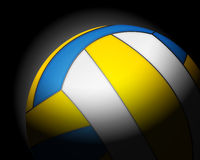 Volleyball ball on black Stock Photo