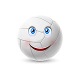Volleyball ball cartoon character Stock Photo