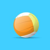 Volleyball ball color flat icon vector Stock Photography