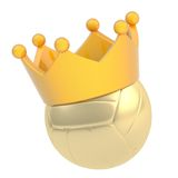 Volleyball ball in the crown isolated Stock Images