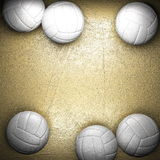Volleyball ball and golden wall royalty free illustration