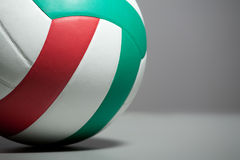 Volleyball ball on a gray background. Royalty Free Stock Photography