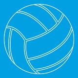 Volleyball ball icon, outline style Stock Images