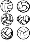Volleyball Ball Images. Assorted Illustrated Volleyball Ball Images Stock Photography