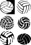 Volleyball Ball Images. Assorted Illustrated Volleyball Ball Images Royalty Free Stock Photos