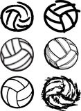 Volleyball Ball Images. Assorted Illustrated Volleyball Ball Images Royalty Free Stock Photography