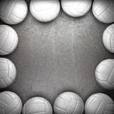 Volleyball ball and metal wall Royalty Free Stock Image