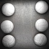 Volleyball ball and metal wall Stock Photos