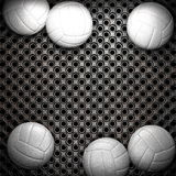 Volleyball ball and metal wall Royalty Free Stock Photo