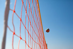 Volleyball Ball Over Net Royalty Free Stock Image