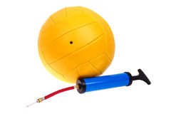 Volleyball ball and pump Royalty Free Stock Photography