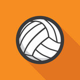 Volleyball ball retro poster Royalty Free Stock Photography