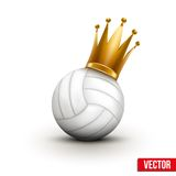 Volleyball ball with royal crown of princess Royalty Free Stock Photography