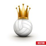 Volleyball ball with royal crown of queen Stock Images