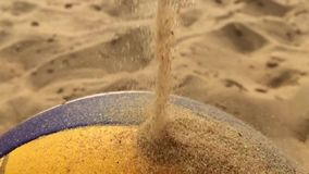 Volleyball ball and sand. stock video footage