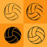 Volleyball Ball Set 2 Royalty Free Stock Photos