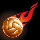Volleyball Ball Set 4. Fire Ball Drawing Royalty Free Stock Photo