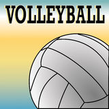 Volleyball. Ball on special blue and yellow background Royalty Free Stock Photo