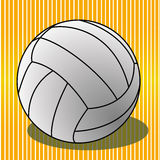 Volleyball. Ball on special yellow lines background Royalty Free Stock Image